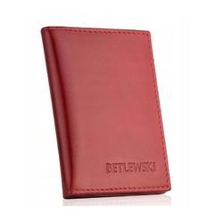 Etui na wizytówki betlewski bez-07 czerwony