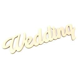 Drewniany napis Wedding 33x11 cm