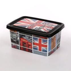 Pojemnik pudełko na pościel i zabawki 38 cm z pokrywką