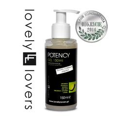 Sexshop - żel wzmacniający erekcję - lovely lovers potency gel strong formula + energy 150ml  - online