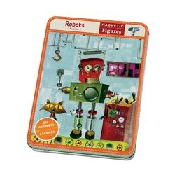 Zestaw magnesowych postaci mudpuppy - roboty
