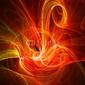 Obraz na płótnie canvas trzyczęściowy tryptyk ptak ognia chaosu