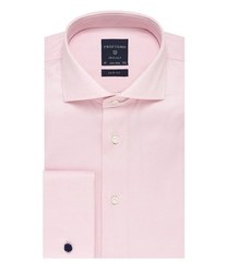 Elegancka różowa koszula męska taliowana, slim fit z mankietami na spinki 46