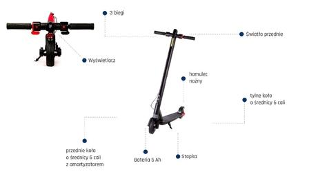 Hulajnoga elektryczna fitgo fs10 axe