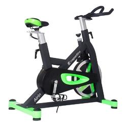 Rower spiningowy airin czarno-zielony - insportline - czarno - zielony
