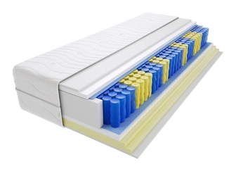 Materac kieszeniowy zefir 180x225 cm miękki  średnio twardy 2x visco memory