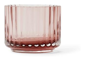 Świecznik szklany Lyngby Burgundy