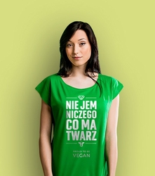 Proud to be vegan  t-shirt damski zielony xxl