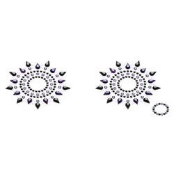 Biżuteria na piersi - petits joujoux gloria czarna z fioletem