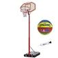Zestaw kosz do koszykówki master regulowany + piłka nba junior +pompka