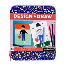 Zestaw projektuj i rysuj  petit collage - dziewczynki  5+