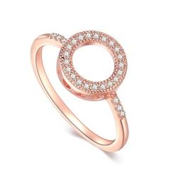 Staviori pierścionek. cyrkonia. srebro 0,925.  pokryte różowym złotem średnica 9,5 mm.   dostępne rozmiary: 12,14,16