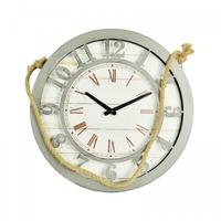 Zegar ścienny vintage retro loft sznur drewno