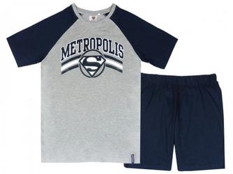 Męska piżama letnia superman metropolis