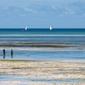 Turkusem malowane zanzibar - plakat premium wymiar do wyboru: 91,5x61 cm