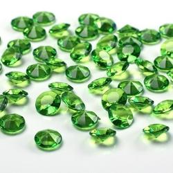Diamentowe konfetti 12mm100szt - zielony jasny - ZIELJAS