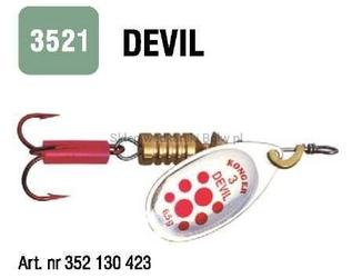 Błystka obrotowa devil nr. 0 s20 konger