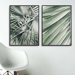 Zestaw dwóch plakatów - exotic interior , wymiary - 30cm x 40cm 2 sztuki, kolor ramki - biały