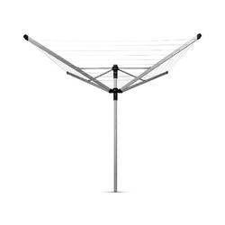 Brabantia - suszarka ogrodowa lift-o-matic advance 50m, 4 ramiona, pokrowiec, pojemnik na klamerki - mocowanie z tworzywa do betonu