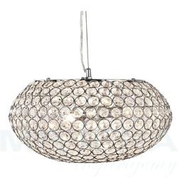 Chantilly lampa wisząca 3 chrom kryształowe szkło
