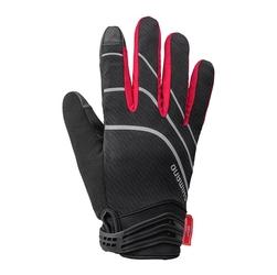 Rękawiczki zimowe  shimano windstopper czarno-czerwone