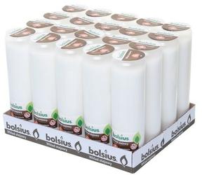 Bolsius, wkład olejowy do znicza, biały, 6 dni palenia, 20 sztuk