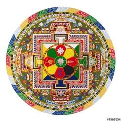 Board z aluminiowym obramowaniem mandala tybetańska