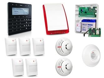 Zestaw alarmowy satel integra 32, klawiatura sensoryczna, 8 czujek, sygnalizator zewnętrzny, powiadomienie sms - szybka dostawa lub możliwość odbioru w 39 miastach