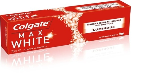 Colgate maxwhite, luminous, pasta do zębów,  75 ml