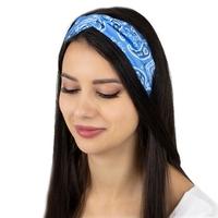 Opaska do włosów pin up bandamka turban błękitna