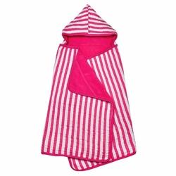 Muślinowy różowy ręcznik z kapturem z bawełny organicznej Green Sprouts