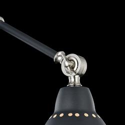 Kinkiet z regulowanym ramieniem, czarny domino maytoni modern mod142-wl-01-b