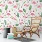 Tapeta na ścianę - flamingo garden , rodzaj - tapeta flizelinowa laminowana