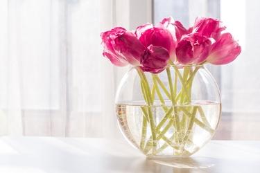 Wazon kula szklany na kwiaty edwanex średnica 30 cm
