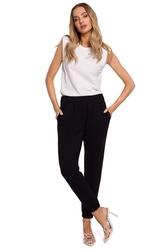 Dresowe spodnie joggery - czarne