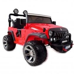 Jeep z  amortyzatorami pilot, lakier, panel mp4, świecące koła, wspomaganie, regulowane siedzenie,zderzak z amortyzatorem,