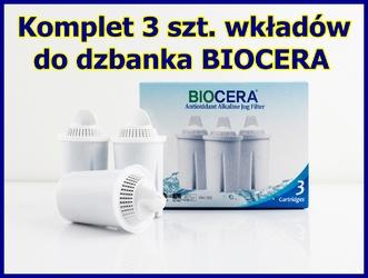Biocera komplet 3 szt. wkładów filtrów wymiennych