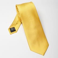 Żółty krawat jedwabny