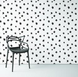 Designerskie gwiazdki - tapeta na ścianę , rodzaj - próbka tapety 50x50cm