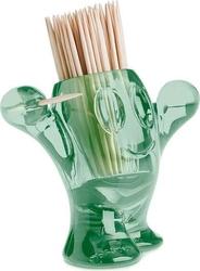 Podajnik wykałaczek picnix transparentny zieleń eukaliptusowa