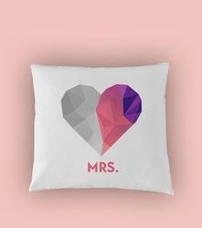 Mrs heart poduszka biała u