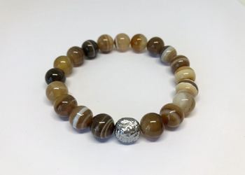 Bransoletka brown agate s