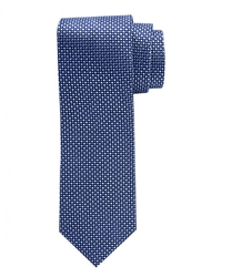 Niebieski jedwabny krawat profuomo ze wzorem