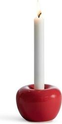 Świecznik apple czerwony duży