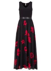 Sukienka bonprix czarno-czerwony