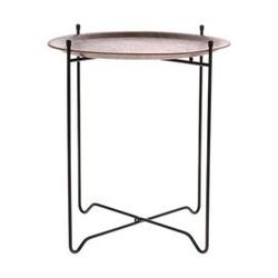 Hk living :: stolik metalowy rozmiar m ciemnobrązowy
