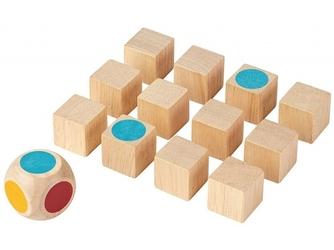 Mini memo kolory drewniana gra pamięciowa