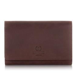 Skórzany portfel damski paolo peruzzi in-05 brązowy