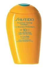 Shiseido protective tanning emulsion spf10 kosmetyki damskie - 150ml