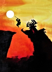 Samurai jack vintage poster v2 - plakat wymiar do wyboru: 59,4x84,1 cm